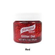 red glitter gel